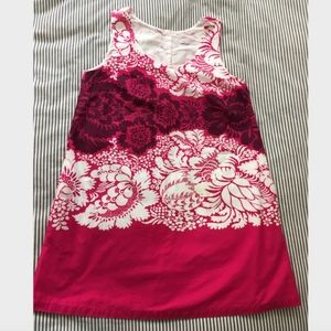 Marimekko Lined Cotton Shift Dress 40 US10